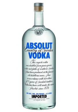 Absolut Vodka 4.5 Liter inkl. Edelstahl Pumpe