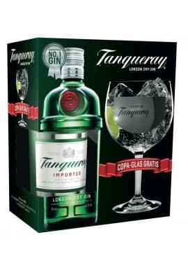 Tanqueray London Dry Gin mit Copa-Glas Geschenkpaket