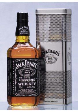 Jack Daniels Tennessee Whiskey 0.7 Liter in der Metallbox