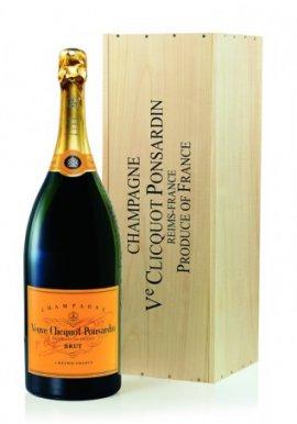 Veuve Clicquot Brut Champagner 15 Liter Nebukadnezar mit Holzkiste
