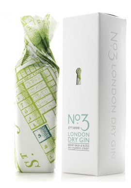 No.3 London Gin (Berry Bros & Rudd) 46% Vol. in Geschenkverpackung